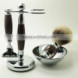 Wholesale Shaving Brushes with Stainless Shave Bowl and Razors for Men