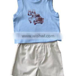 kids bank top with snap button bulk wholesale designer kids clothing for boys