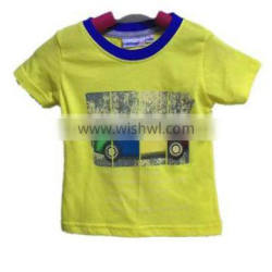 boutique summer kids clothing baby boys Tshort sleeve casual shirt withprinted car