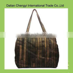 Manual special design gorgeous joint pu shoulder bag for ladies