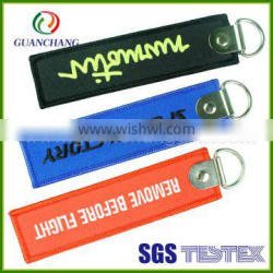 Promotional new design custom fiber material fashion key ring type eco-friendly keychain with custom logo