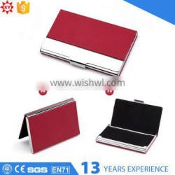 Red ecofriendly leather material card case