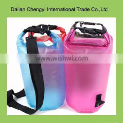 Wholesale factory price bright color clear pvc dry bag for surfing
