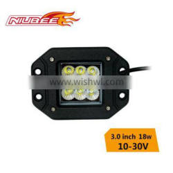 18w cree led work light for motorcycle driving