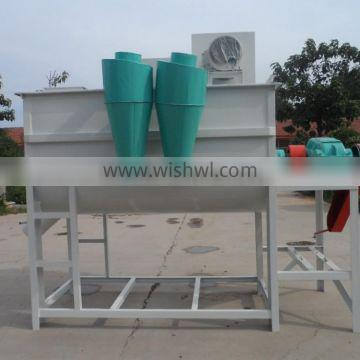 Animal powder feed mill combined with horizontal mixer and grinder