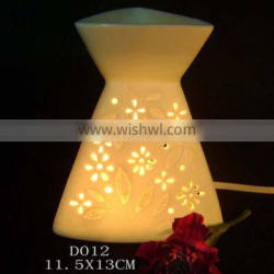 ceramic electric oil burner with lamp and aromatheraphy function