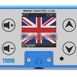 GPS multilingual tour audio commentary system for double decker bus