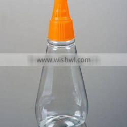280ml and 400ml honey bottle wit squeezable out screw top