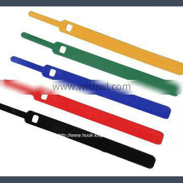China made pin type hook and loop hook and loop cable tie,colours