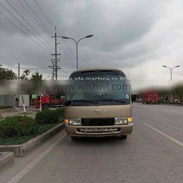 used toyota coaster bus with diesel engine and 30 seats for sale in shanghai ,china