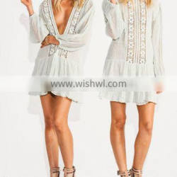 Sexy Girls Boho Star Crossed Backless V-neck Cotton Mini Dresses Names Of Ladies Dresses Night Dress Photos HSD5771