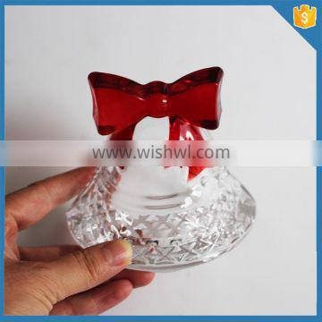 Handmade decoration color glass bell christmas ornament