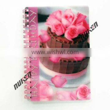 Fashinal Professional High Quality 3D Lenticular notebook custom printing Made In China Wholesale