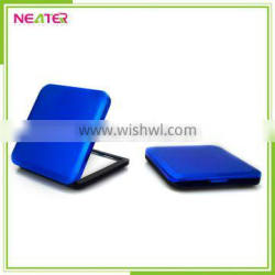 2016 hot selling design compact mirror promotional gift female square plastic mirror