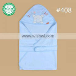 100% cotton bear hooded embroider baby towel blanket