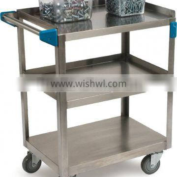 3 Shelf Stainless Steel Utility Service Cart