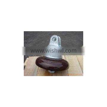 Porcelain disc suspension insulator