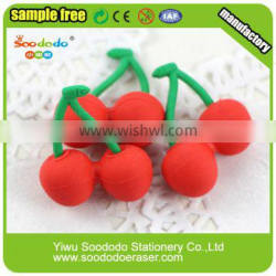 Cool Fruit Chinese Cherry Rubber Eraser for children