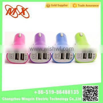 MX New Best Selling Colorful mini usb car charger with CE ROHS