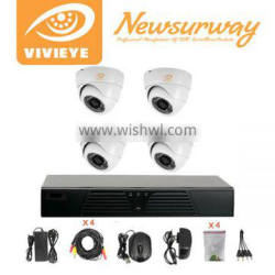 HD AHD h.264 4ch dvr combo cctv camera kit cctv kit 4 camera