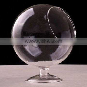 Micro landscape ecological globe shape Meaty plant glass vase DIY ball with base 16L026