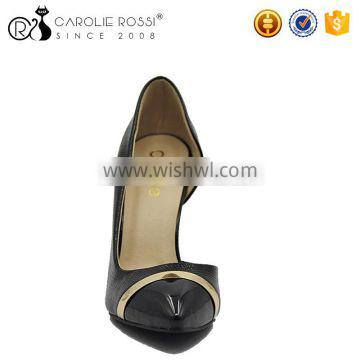 Lady pointed toes black pencil high heel pumps shoes for women