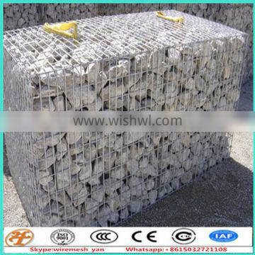 Retaining Wall stone gabion baskets connected with spring 1x1x0.5m