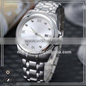 3 Hand Crystal Transparent-Bottom Sapphire Couples Watch