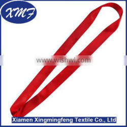 stain ribbon heat transfer printed strap lanyard for medal