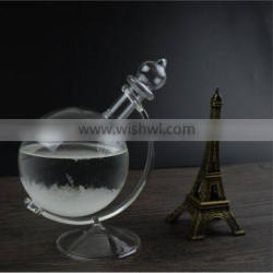 tellurion shape glass storm with glass stand for gift