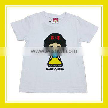 2016 Fashion Products Bros Babe Queen Girl Printed Short Sleeve White T-Shirt