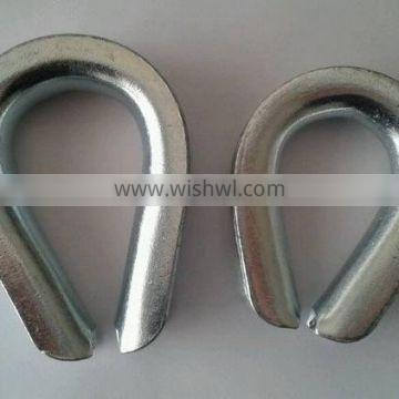 Galvanized mild steel BS464 Wire Rope Thimble cabe thimbles