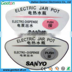 Electric Kettle Tactile Embossing PC Nameplate Label