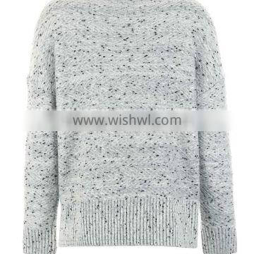 OEM clothing manufacturing knitted wool dot pattern womens sweaters with low price