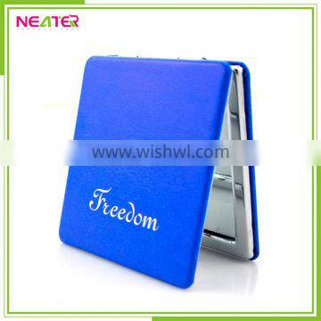 square leather baby safety mirror cosmetic metal PU compact mirror