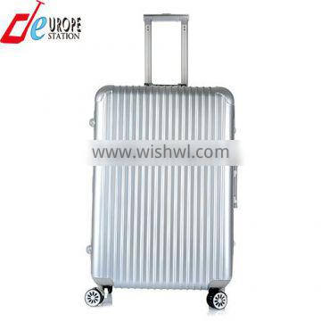 abs+pc aluminum frame trolley case