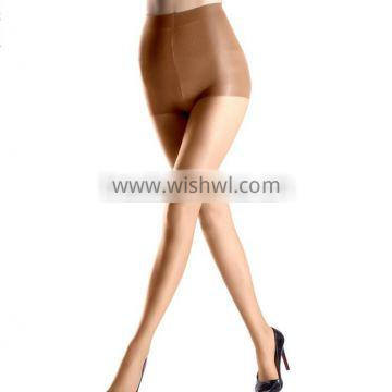 Women's 15 Den Ultra Sheer Toe Control Top Shaping Shiny Pantyhose Tights