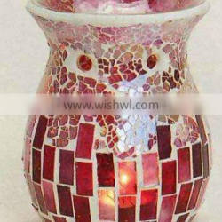 10.5Dx14H hand made cheap colored glass oil burner