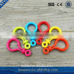 plastic colorful snap hook for silicone toy