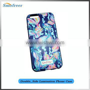 High Quality Cell phone cases Double Side PC mobile phone back cover for iphone 6,the design is TPU+PC for iphone 6 6s case