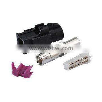 Straight A Coding Black Crimp Female Jack HSD Connector with housing for Dacar 535 538 4 pole Cable