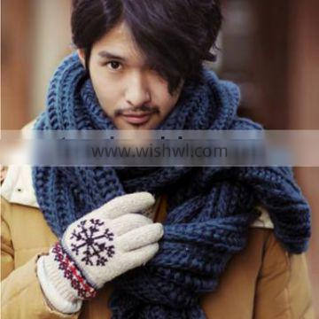 2013 Winter Fashion Unisex Warm Thick Long Acrylic Knitted Scarf