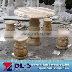 Garden Stone Tables And Benches, Stone Bench And Table Handcrafted In Marble
