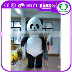 Best price 2.5mH/3mH giant inflatable panda fat inflatable mascot costume