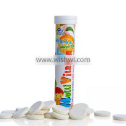 kids food supplements effervescent tablets of vitamin minerals