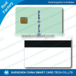 CR80 plastic pvc smart card contact ic chip card
