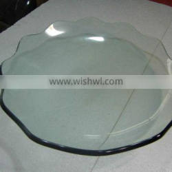 Hot bending glass fruit bowl