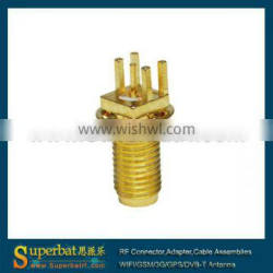 2.4 ghz antenna sma connector RP-SMA End Launch Jack(male pin) bulkhead PCB Mount