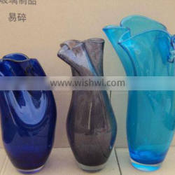 Different Shapes Of Colored Glass Decorative Glass Vase