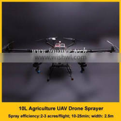 10L crop spraying uav, 25 minutes flying agricultural drone with two 16000mah batteries and gps